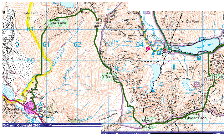 Glyder section map